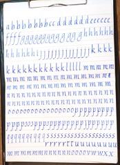 16.05_practise (Heather Kelly Glass) Tags: blue writing fountainpen cartridge lamy practise italic 19mm lamyjoy lamyblue