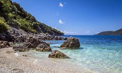 Vassiliki cove (Debs Bowness Photography) Tags: bluesea mediterranean greece vassiliki cove clearsky waves rocks greekisland