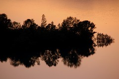 Lake of fire... (modestino68) Tags: lago lake tramonto sunset riflessi reflects nirvana