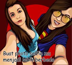Selfie vector (zarra.nadilla) Tags: vector vectorxvexel vexel vectorart ilustrator indonesia art artist awesome cartoon creative collor comic creature zarra nadillazarra