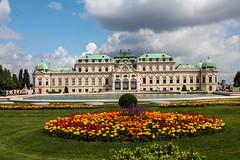 BELVEDERE (micebook) Tags: vienna austria ruins buildings sky green trees landscape city centre tourism landmarks