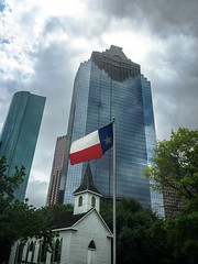 THIS IS TEXAS (RUSSIANTEXAN) Tags: park plaza heritage architecture clouds photography downtown texas skyscrapers flag houston russiantexan anvar khodzhaev iphone6 svetan