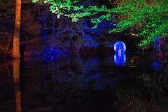 Dancer in the Dark (camerue) Tags: woman art landscape colorful nightshot dancer lightshow sauerland vosswinkel waldlichter2015