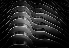 Fade to Black (gordeau) Tags: bw building lines blackbackground wave gordon repetition ashby bigmomma flickrchallengegroup flickrchallengewinner thechallengefactory gordeau