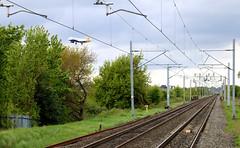Rail and Air (Andrew Edkins) Tags: uk england train geotagged aircraft crosscountry railwaystation voyager boeing westmidlands 737 bhx birminghaminternationalairport railwaylines passingtrains virginpendolino aviaition marstongreen