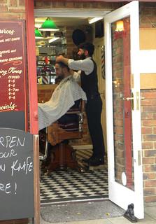 A barber shop in Brighton