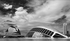a place the Jetsons would have cherished (lunaryuna) Tags: light sky cinema valencia weather architecture clouds spain mood calatrava lunaryuna candela cityofartsandsciences ciutatdelesartsilesciències scifibuffsunleashed ciudaddeartesyciencias