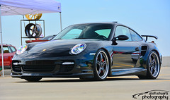 Porsche 911 Turbo (scott597) Tags: ohio black lynch austin 911 landing turbo porsche dayton merrill 997 2015 speedfest forgeline