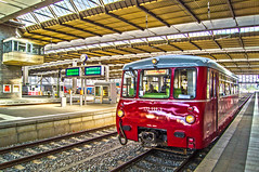 172 132-3 in Chemnitz Hbf HDR (OnkelKrischan) Tags: rot deutschland eisenbahn bahnhof hauptbahnhof sachsen deutschebahn bahn hdr bahnsteig chemnitz reisende sonderzug deutschereichsbahn triebwagen sonderfahrt ferkeltaxe ferkeltaxi chemnitzhbf 1721323