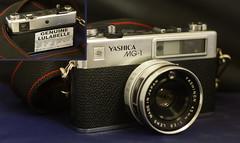 Lulabelle (gregkitten) Tags: camera film broken 35mm stuck sticky shutter electro yashica malfunction lulabelle mg1