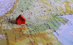 my mother land (Ayeshadows) Tags: pakistan red house home paper origami map punjab handcraft