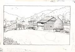 Pokhara. Nepal (Bernat Moreno) Tags: nepal sketch pokhara