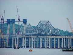 THE NEW TAPPAN ZEE BRIDGE IN PROGRESS IN JUNE 2016 (richie 59) Tags: newyorkstate newyork unitedstates weekend saturday interstatehighway spring rocklandcountyny richie59 rocklandcounty townofclarkstown townofclarkstownny hudsonriver metronewyork newyorkstatethruway 2016 tappanzeebridge interstate287 thruway interstate87 june42016 june2016 southnyackny southnyack america 2010s bridge newbridge oldbridge bridgeconstruction constructionsite hudsonvalley nystate nys ny usa us outside highway freeway roadway road dividedhighway river water constructioncranes constructioncrane trees concretework boats concretepiers slipform waterfront bridgework