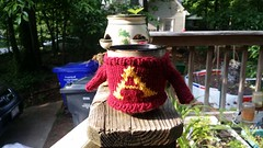 Weasley Mug Sweater (chaotick) Tags: wool coffee gold sweater hp knitting maroon mug weasley gryffindor potterhead