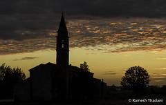 Chiesa di Terranova (Ramesh_Thadani) Tags: italien sunset sky italy tower church rural italia dusk it churchtower dramaticsky padua veneto ruralscene correzzola terranovachurch ruralitaly chiesaditerranova