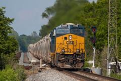G051 Hagarstown IL (Conrail4ever) Tags: railroad train ball illinois g evolution trains bowling type series locomotive ge signal csx vandalia gevo hagarstown
