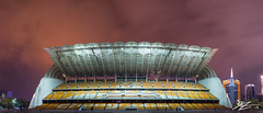 Another Night of Social Theatre (Tim van Zundert) Tags: guangzhou china city light architecture night island evening long exposure stadium district sony voigtlander panoramic pollution guangdong seating canton grandstand 21mm tianhe ultron a7r  haixinsha