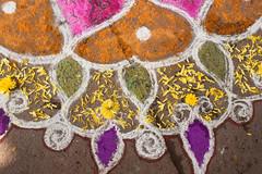 Flower bits kkolam detail.jpg (melissaenderle) Tags: kolam asia design tamilnadu