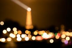 Parisian bokeh (Zeeyolq Photography) Tags: city paris france night bokeh eiffeltower toureiffel