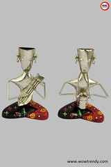 Showpiece - Sitting Musicians with Sarangi and Drums (ethniclifestyleexpert) Tags: homedecor showpiece metalsculpture tradition gifts wowtrendy