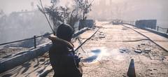 Fallout 4 (ADinvom) Tags: fallout 4 girl dog fallout4 enb screenshot screen mod pose girls sofa photoshop people postapocalypse watch watching outdoor