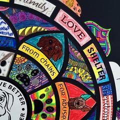 IMG_2532_800px_o (Music & Mandala Art for Healing) Tags: donnagentile dogs deserve better aimforabettertomorrow communitymandalaproject beeatthehive the hive mandala puzzle healing art rescue