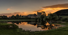 Stokesay Castle (explored briefly 07/08/16 #3) (MarkWaidson) Tags: stokesay castle shropshire sunrise lake reflection