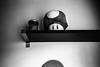 Magic Mushroom (bhop) Tags: los angeles california bw blackandwhite black white film kodak trix 400tx kodaktrix trixfilm olympus xa rangefinder mushroom nintendo mario shelf monochrome