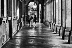 Urban walk in Porto (zilverbat.) Tags: portugal blackandwhite image innercity monochrome blackwhitephotos citylife bw zwartwitfotografie urban urbanlife zwartwit urbanvibes zilverbat gallary people streetphotography noir streetcandid streetlife streetshot scenery postcard peopleinthecity photography blanco black urbana girls study visit town world porto negro