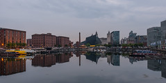late evening at Liverpool (barfi*) Tags: liverpool evening docks reflection