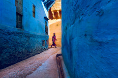 Blue. Jodhpur, India (Marji Lang Photography) Tags: 2013 asia inde india jodhpur jodhpurblue marjilang rajasthan rajasthaniwoman traveldestinations atmopheric atmosphere blue bluecity bluemood bluestreet blues candid city color colorimage colorphotography colorful colors documentary horizontal life mood moody nonstaged oldcity one onepeople oneperson people photography street streetcomposition streetphotography streetlife streetshot travel traveldestination travelphotography urbanscene
