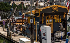 Black Spirit -- Pirate Adventure (DCZwick) Tags: pirate pirateadventure blackspirit ship dock granvilleisland falsecreek vancouver bc britishcolumbia pentaxk3 canada