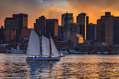 Schooner in Boston Harbor At sunset (shyto) Tags: sunset sailing boston 500px schooner facebook eastboston flickr edmondhatfield