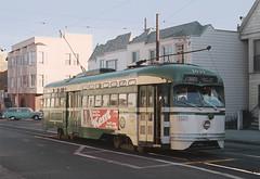 MUNI 1031 on the J Church Route, San Francisco, November 23, 1975 (railfan 44) Tags: muni pcc