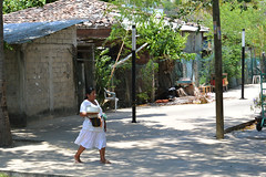 Walking Woman (t8866 Photography) Tags: woman santacruz walking mexico village barefoot oaxaca worker workingpeople