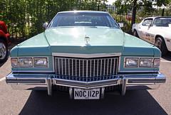 1975 Cadillac Coupe De Ville #5 (demented_b) Tags: auto blue car america de us cadillac american 1975 chrysler mopar coupe ville brooklands 2014