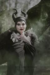 Maleficent (martina.spoljaric1989) Tags: portrait woman girl fashion fog female forest dark woods smoke goth evil fantasy expressive maleficent