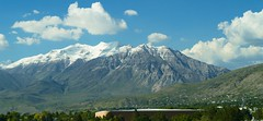 Timpanogos in Summer (aaronrhawkins) Tags: summer snow mountains green utah mt aaron timpanogos hawkins byu