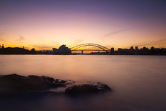 From Mrs Macquarie's Chair || Sydney  {Explore 47, 2015/05/31} (David Marriott - Sydney) Tags: longexposure sydney australia newsouthwales operahouse harbourbridge mrsmacquariechair