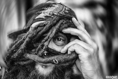 Eye of Dirts (www.facebook.com/h0bieph0t0) Tags: street bw eye st dreadlocks tampa photography bay nikon downtown florida petersburg d750 hippie 58mm bnw helios 442