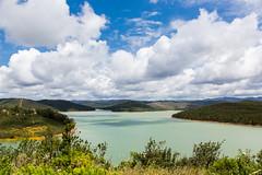 Barragem da Bravura (alanrharris53) Tags: sun lake portugal water clouds reservoir barragem algarve