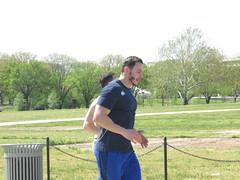 IMG_0649 (FOTOSinDC) Tags: shirtless man men muscles muscle candid handsome running sweaty sweat shorts jogging runner tee jogger