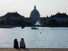 Copenhagen (simo2582) Tags: travel sunset woman man church girl copenhagen denmark harbor couple europe marble scandinavia marmorkirken