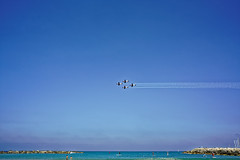 Israel (Hemo Kerem) Tags: street blue sea sky beach israel telaviv aircraft sony 28mm olympus mf om alpha independenceday manualfocus tlv aerobatic olympusom israelindependenceday aerobaticaircraft olympusom28mmf35 a7rii sonya7rm2 a7rm2 ilce7rm2