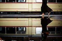 flamenco (ewitsoe) Tags: city urban reflection tourism window 35mm walking dance nikon dress cities tram poland polska pedestrian visit tourist reflected trams poznan polishgirl d80 womns ewitsoe visitpoland polishwomsn