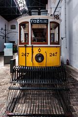 Foz 247 (Perurena) Tags: portugal museum tren machine amarillo museo carris oporto maquina transporte electrico tranvia vias carriles museodeltranvia