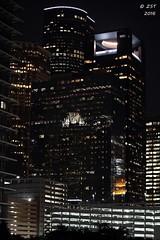 Downtown Plazas after Dark (zeesstof) Tags: city architecture buildings downtown texas skyscrapers nightshot houston citylights afterdark tallbuildings downtownhouston concreteandglass insidetheloop zeesstof