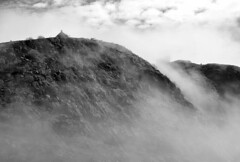 Mists of Avalon (Karen_Chappell) Tags: blackandwhite bw canada weather fog newfoundland foggy stjohns avalon signalhill nfld eastcoast atlanticcanada avalonpeninsula