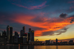 Fiery Clouds (elenaleong) Tags: singapore cityscape waterfront mbs marinabay marinapromenade fieryclouds marinareservoir intensecloudscape