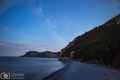 Forillon (grimaux.jordan) Tags: pebble beach night qubec canada national park stars star sea water forest wood sky clouds long exposure scape seascape landscape
